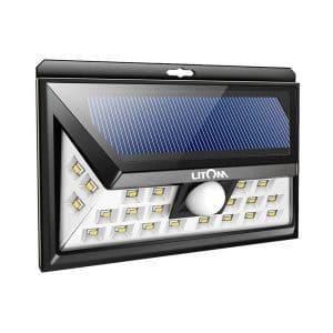 LITOM LED Solar Lights, 3 Optional Modes with 270°Angle