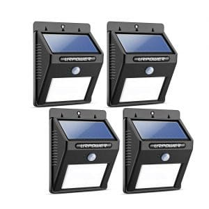 URPOWER Solar Lights, Waterproof Design with Activated Automatic On/Off Feature (4 Packs)
