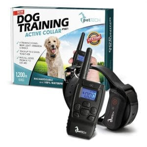 PetTech PT0Z1 Premium 1200ft Range Dog Training Shock Collar