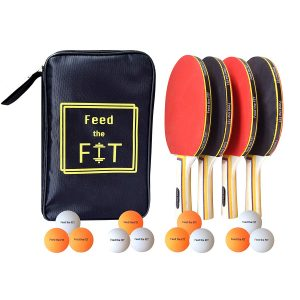 Feed the FitPing Pong Paddle Set