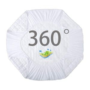 HOS LINENS Waterproof Mattress Pad Cover