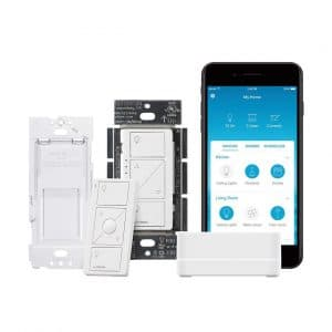 Lutron Caseta Wireless P-BDG-PKG1W-A Smart Lighting Switch Starter Kit