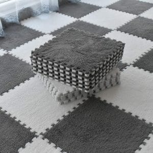 Smabee Interlocking Carpet Shaggy EVA Foam Mats