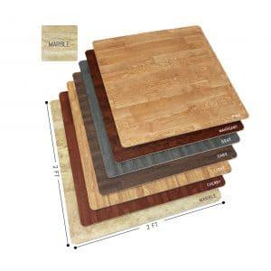 Sorbus Wood Grain Exercise Floor Mats