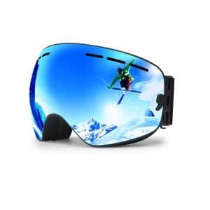 hongdak Ski Goggles, Helmet Compatible- Made for Men and Women Boys