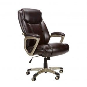 AmazonBasics Executive Chair Adjustable with Armrest- Brown