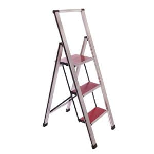 Sorfey-Aluminum Folding Anti Slip 3 Step Ladder