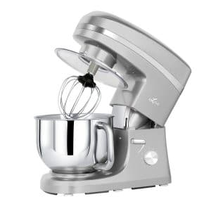 Litchi 650W Stand Mixer, Stainless Steel Bowl, Silver