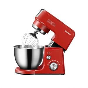 Comfee 2.6Qt Stand Mixer, 7 Speeds and Pulse (Red)