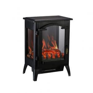 Wonlink Electric Fireplace Stove with a 3D Flame Effect