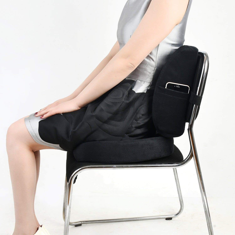 car seat Pads Kowenz Cool Double Breathable 3D Air Mesh Car Seat Cushion pad Cool Chair seat Home Office Chair 41 x 15, Wheelchair Black