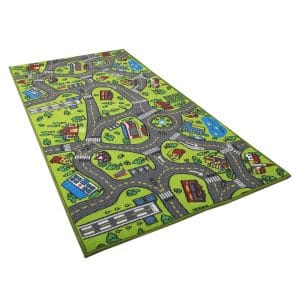 Angels Kids Carpet Playmat Rug with Cars & Toys
