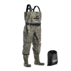 Foxelli Nylon Chest Camo Fishing Waders Men with Boots