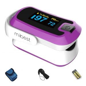 Mibest Fingertip Pulse Oximeter with LED Display
