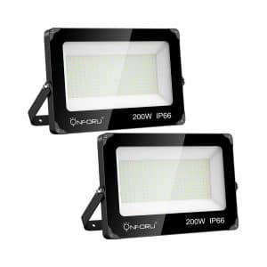 Onfuro 2 Pack 200W LED Flood Light 22,000 Lumens