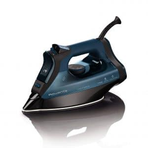 Rowenta Everlast 1750-Watt Stainless Steel Soleplate with Auto-Off, 400-Hole Anti-Calc Steam Iron Blue
