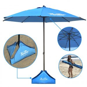 Xbrellas Wind Resistant Beach Umbrella