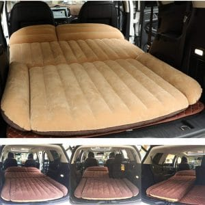 Berocia SUV Air Mattress, Thickened Car Bed Inflatable Home Air Mattress Portable Camping Outdoor Mattress, Flocking Surface, Fast Inflation