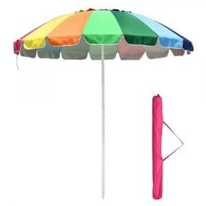 8Ft Rainbow Beach Umbrella