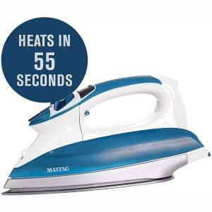 Maytag Digital Smart Fill Steam Iron & Vertical Steamer with Pearl Ceramic Sole Plate, Removable Water Tank + Thermostat Dial