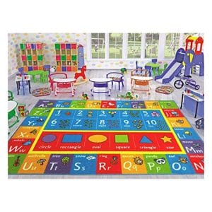 Kev & Cooper Playtime Collection Educational Area Rug