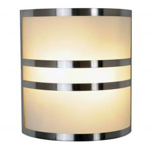 Monument 617605 Brushed Nickel 10 In. Wall Sconce with Accents