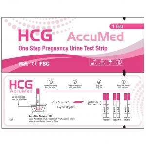 AccuMed Combo 25 Pregnancy Test Strips and 50 Ovulation Test Strips