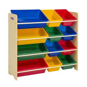 Best Choice Products 4-Tier Kids Wood Toy Storage Organizer