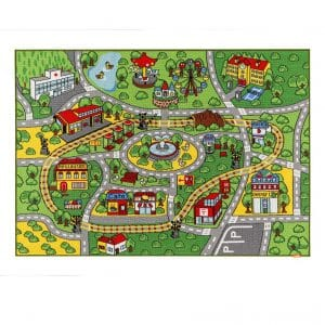 .JACKSON Large Kid Area Rug with Non-Slip Backing, Ideal for Boys & Girls