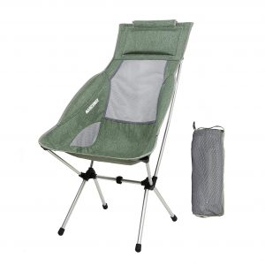 Julvie Portable Folding Camping Chair,Ultra-Light Compact Backpack Chair Breathable Mesh Structure with Storage Bag,Suitable for Outdoor Camping Barbecue Beach Hiking Trip