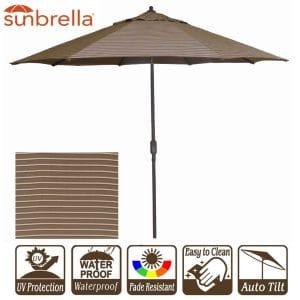 "New 9"" Wide Outdoor Beach Umbrella"