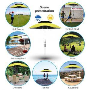BESROY Portable Beach Umbrella