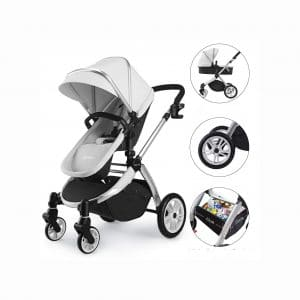 Hot Mom Infant Bassinet 2-In-1 Toddler Stroller Seat