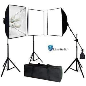 LimoStudio AGG891 2400W Soft Box Lighting Kit