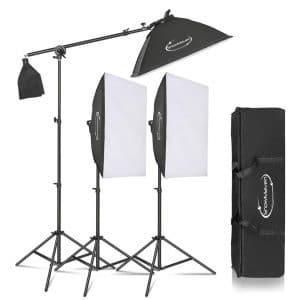 ShowMaven Photography Bi-Color Soft Box Lighting Kit