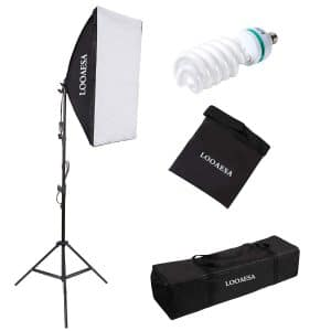 LOOAESA 1350W Softbox Lighting Kit Photography Lighting