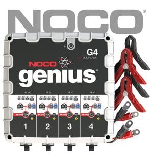 NOCO Genius G4 6V:12V 4.4 Amp 4-Bank Battery Charger and Maintainer