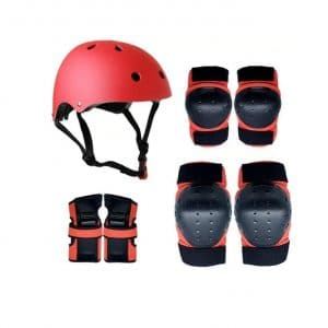 Protective Gears Skate Helmet Knee Elbow Pads and Wrist Guards