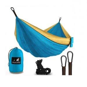 MalloMe Double Camping Hammock- Lightweight Nylon Hammock