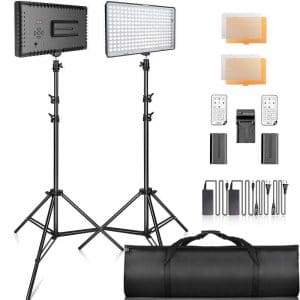 SAMTIAN 2-Pack Dimmable LED Video Lights