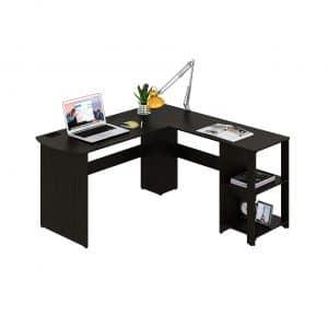 SHW Wood Corner Desk