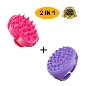 AddGuan Two in One Shampoo Brush for Men, Women, and Children