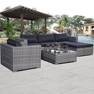 Castlebay 6 Pieces Patio Sofa Furniture Set