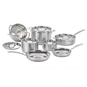 Cuisinart MCP-12N 12-Piece Stainless Steel Cookware Set