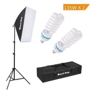 MOUNTDOG Continuous Softbox 1350W Photography Lighting Kit