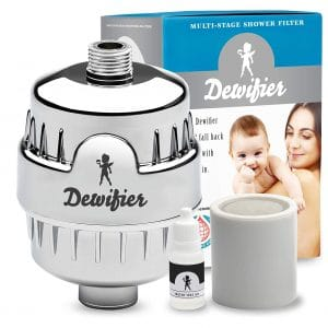 Dewifier Shower Filter for Impurities Removal (Chrome)