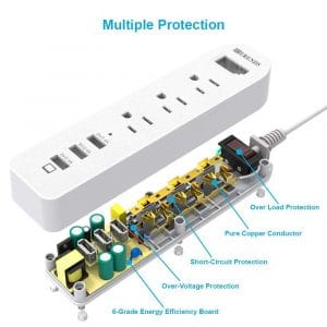 HITRENDS Power Strip Surge Protector