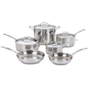 Cuisinart 77-10 Chef's 10-Piece Classic Stainless Cookware Set