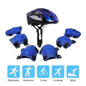 Tour Helmets for Kids Sports Set with Knee Pads