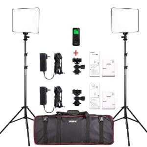 VILTROX 2-Pack Super Slim LED Video Lights